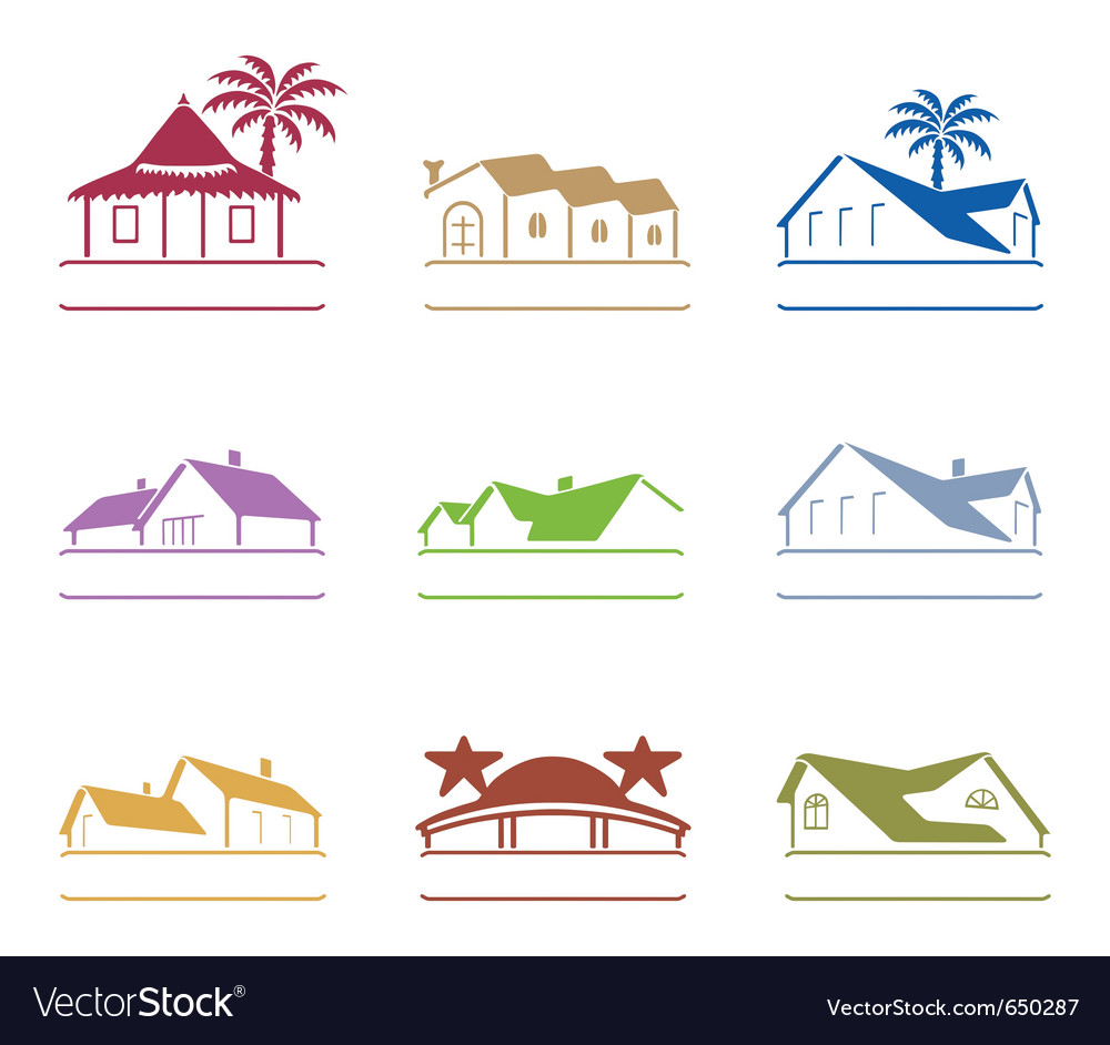 House signs vector | Price: 1 Credit (USD $1)
