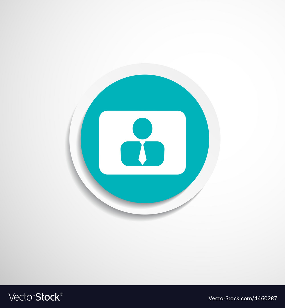 Icon man inside social people technology vector   Price: 1 Credit (USD $1)