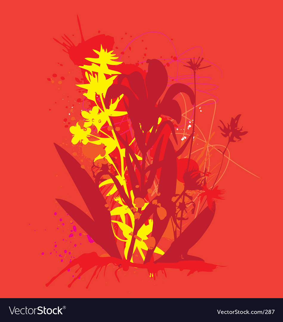 Ink and flowers vector | Price: 1 Credit (USD $1)