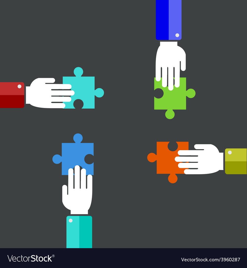 Modern teamwork background vector | Price: 1 Credit (USD $1)