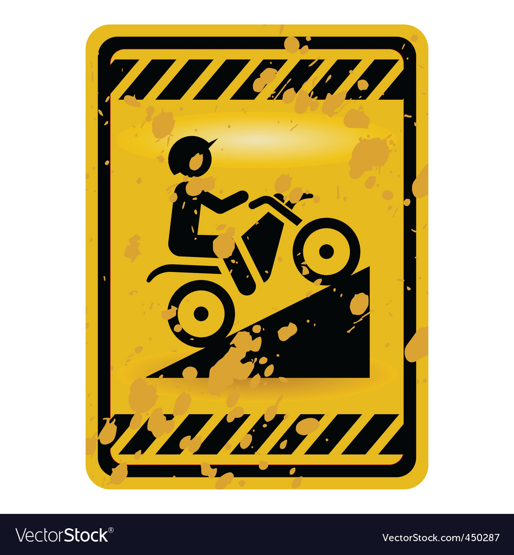 Motor bike trail sign vector | Price: 1 Credit (USD $1)