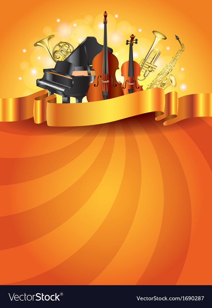 Musical instruments vertical background vector | Price: 1 Credit (USD $1)