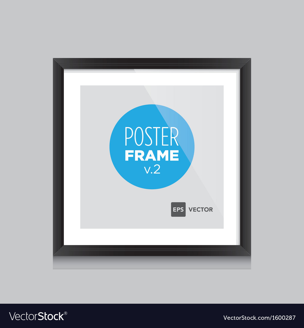 Poster frame black square vector | Price: 1 Credit (USD $1)