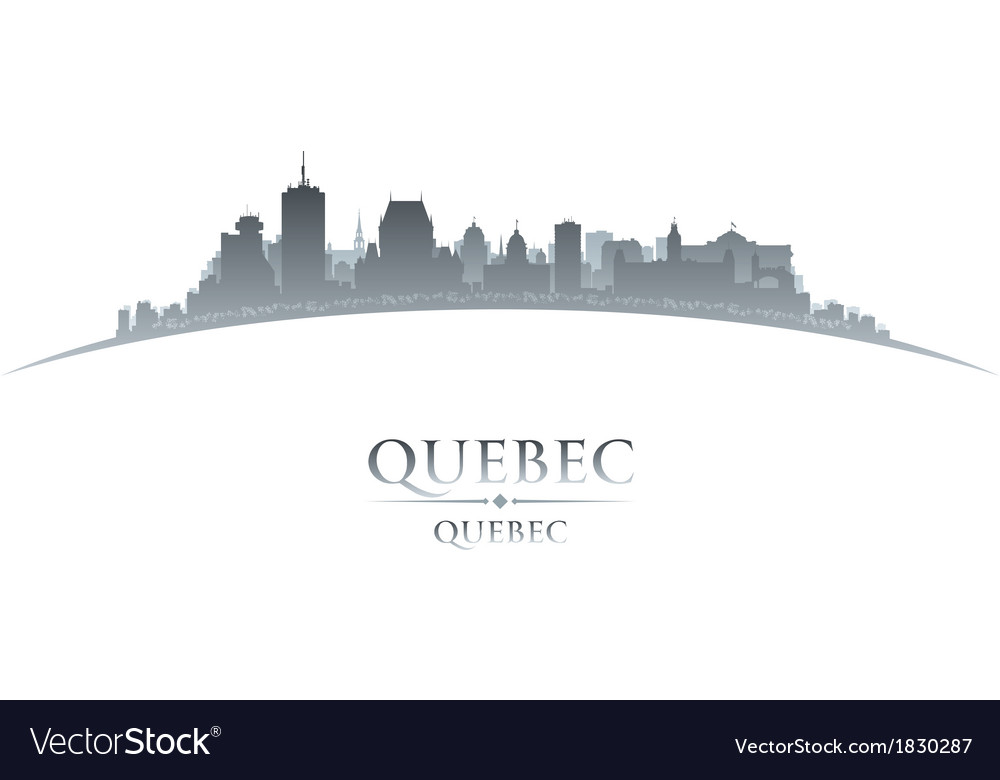 Quebec canada city skyline silhouette vector | Price: 1 Credit (USD $1)
