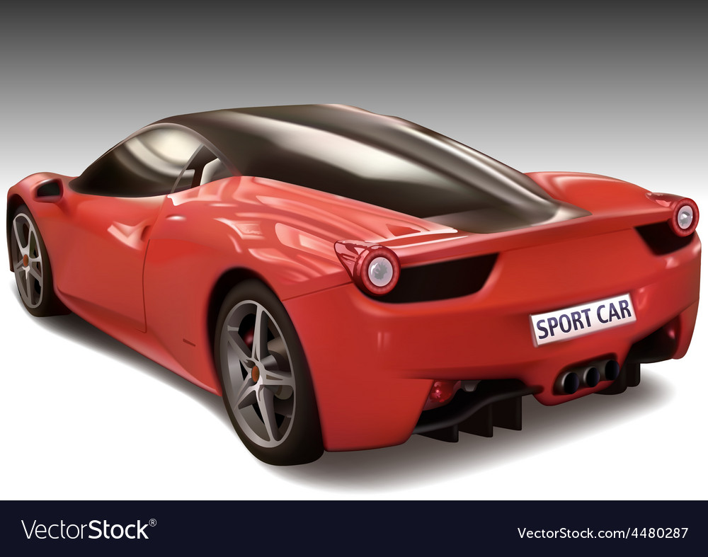 Red sports car vector | Price: 3 Credit (USD $3)