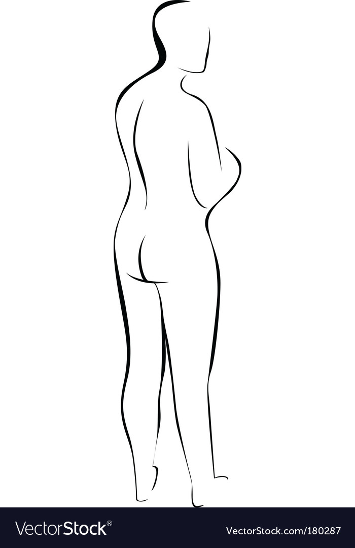 Silhouette of nude woman vector | Price: 1 Credit (USD $1)