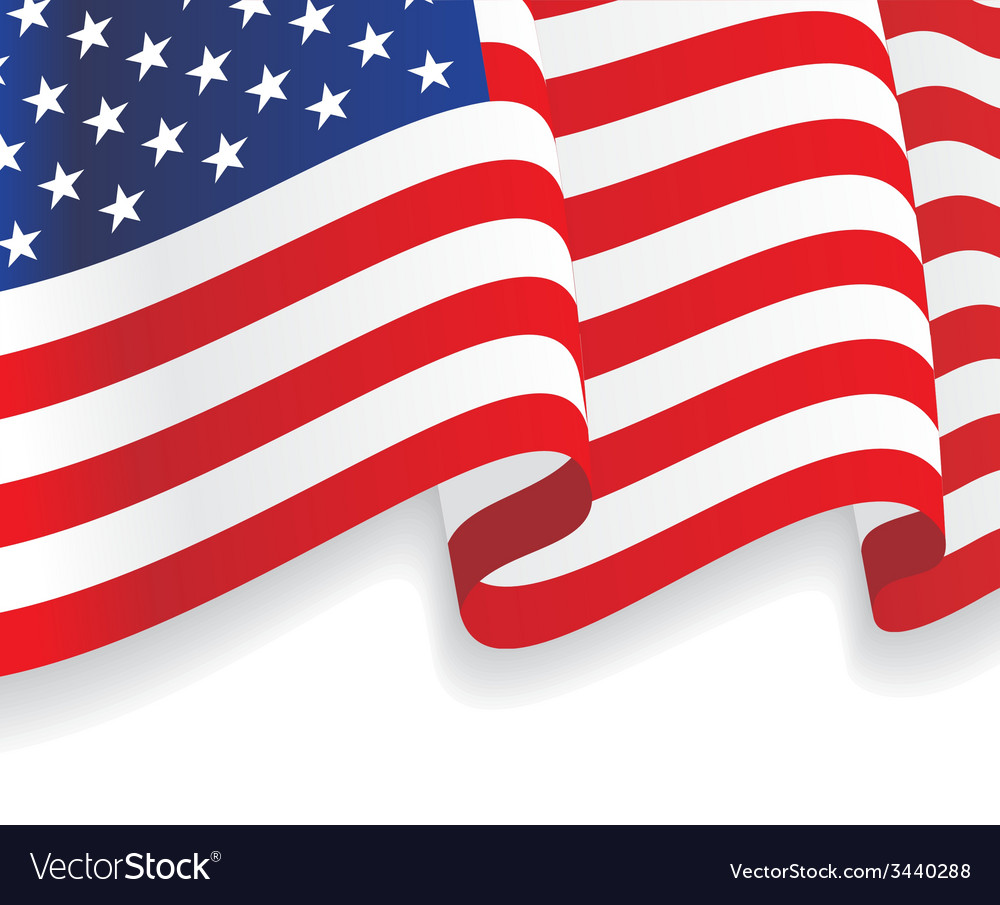 Background with waving american flag vector | Price: 1 Credit (USD $1)