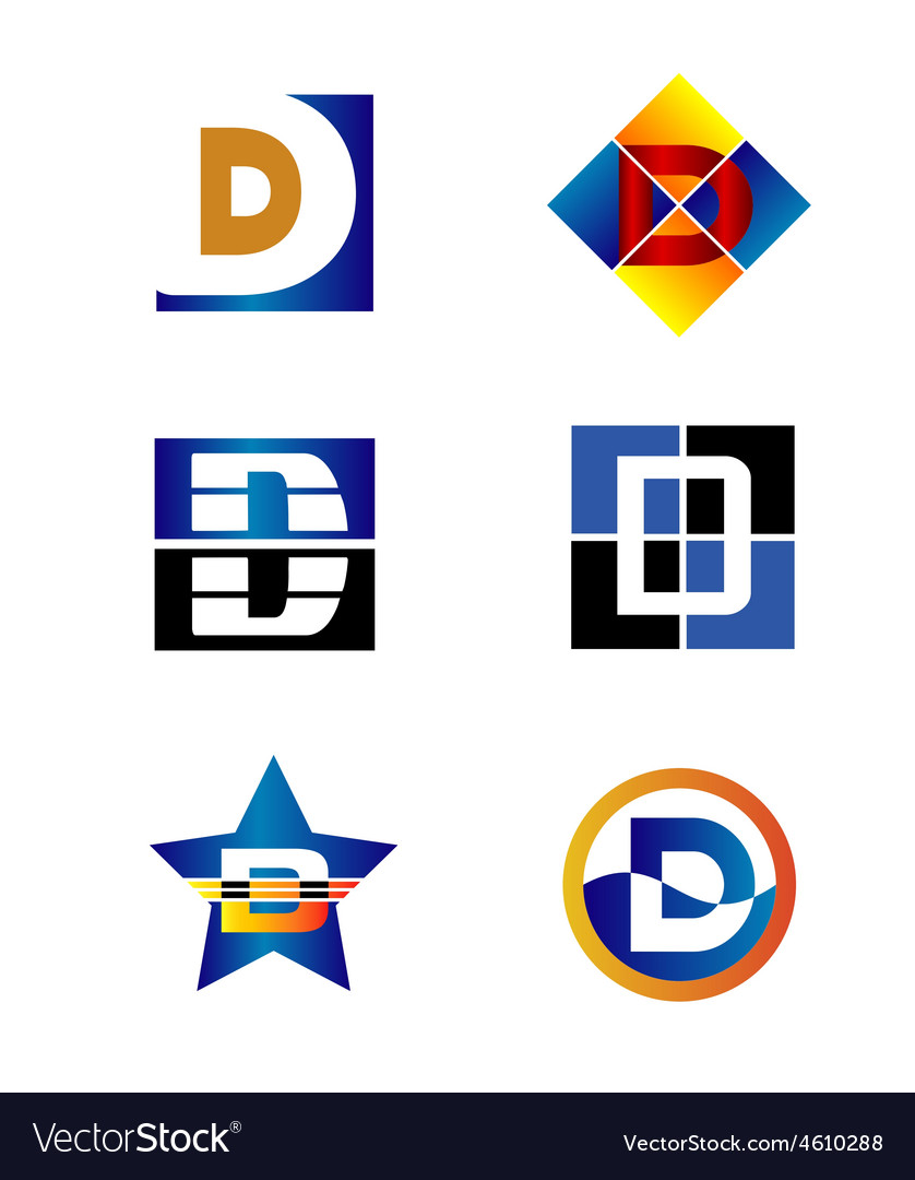 Corporate logo d letter company design temp vector | Price: 1 Credit (USD $1)