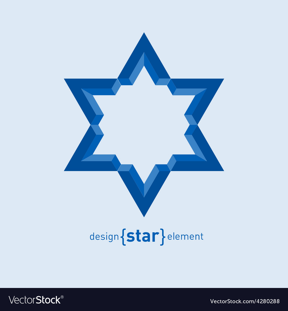 David star abstract design element vector | Price: 1 Credit (USD $1)