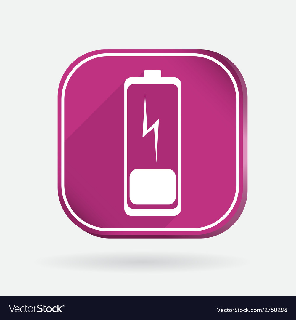 Discharged battery color square icon vector | Price: 1 Credit (USD $1)