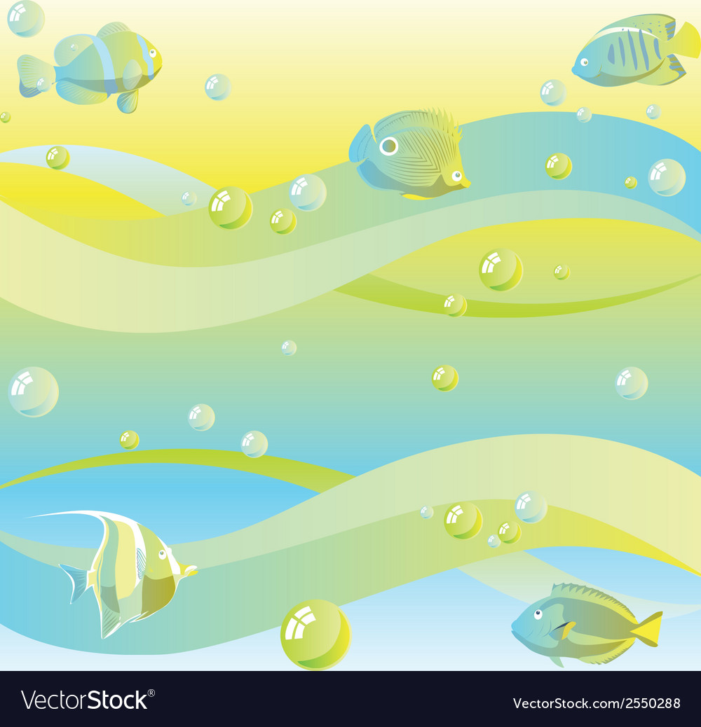 Dreamy sea background vector | Price: 1 Credit (USD $1)