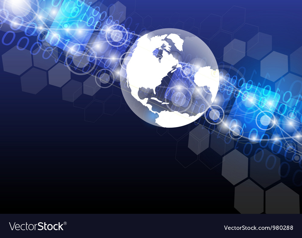 Global technology abstract background design vector | Price: 1 Credit (USD $1)