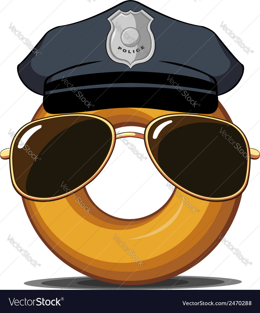 Police donut vector | Price: 1 Credit (USD $1)