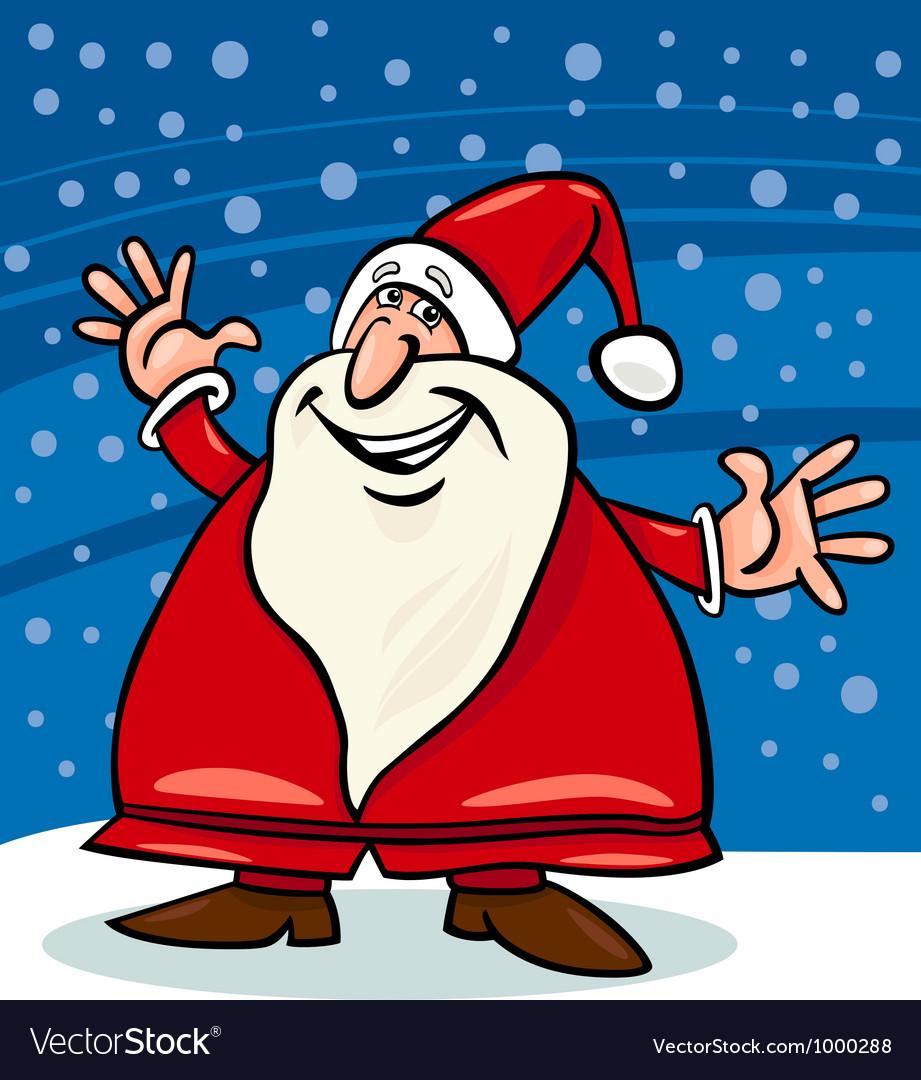Santa claus and snow cartoon vector   Price: 1 Credit (USD $1)