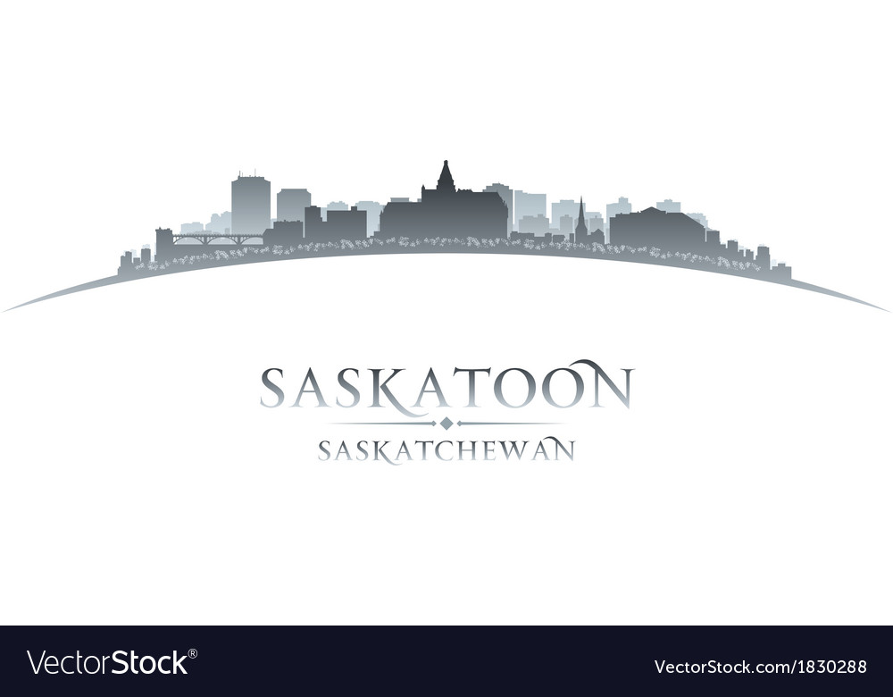 Saskatoon saskatchewan canada city skyline silhoue vector | Price: 1 Credit (USD $1)