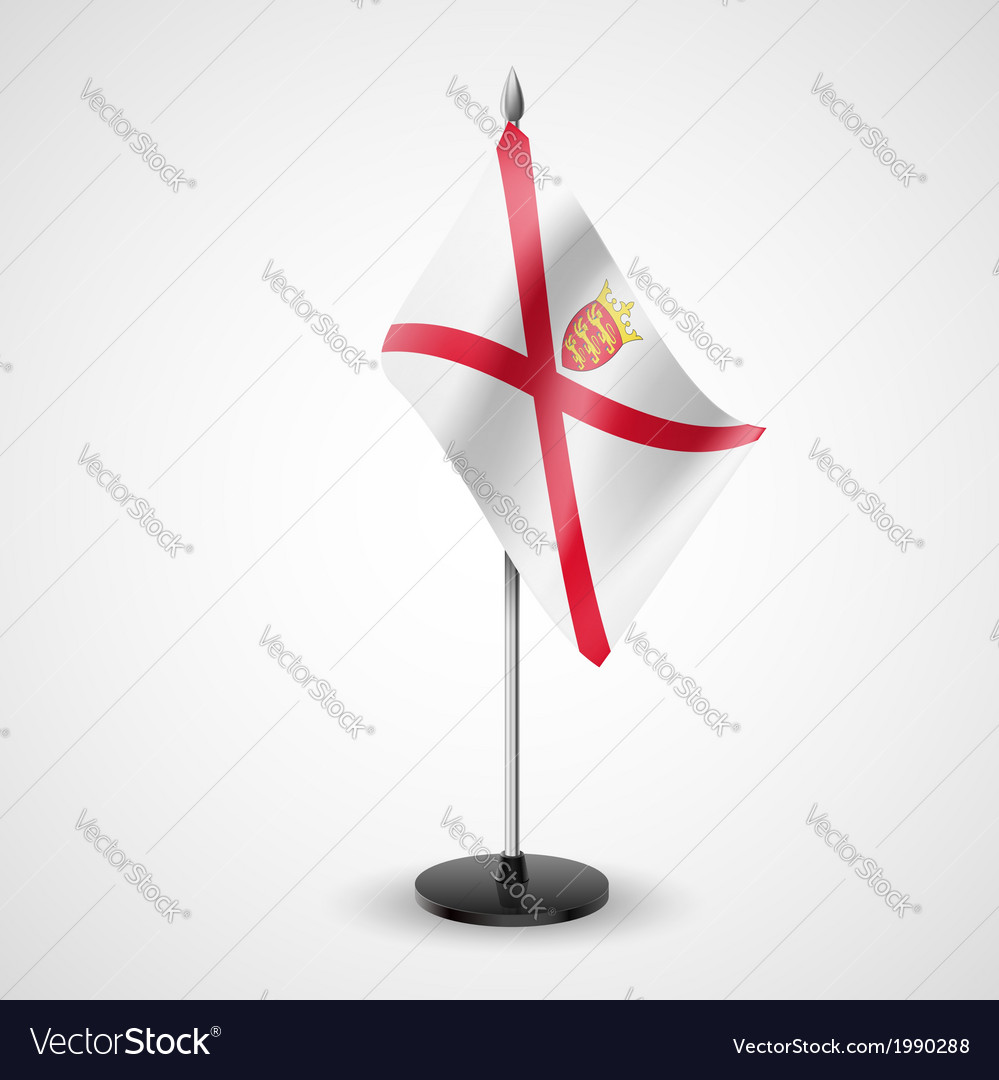 Table flag of jersey vector | Price: 1 Credit (USD $1)