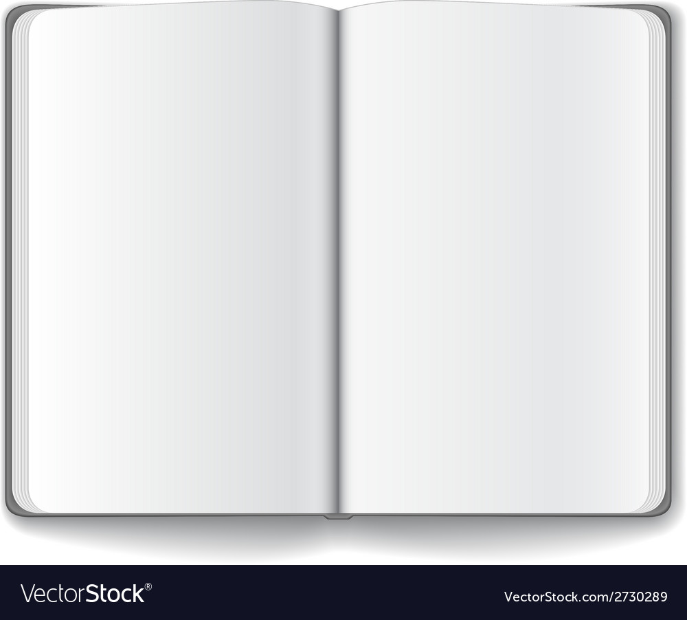 Blank opened magazine template vector | Price: 1 Credit (USD $1)