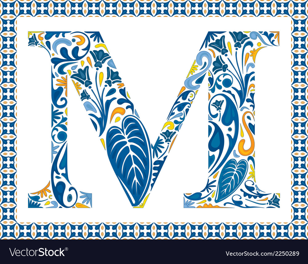 Blue letter m vector | Price: 1 Credit (USD $1)