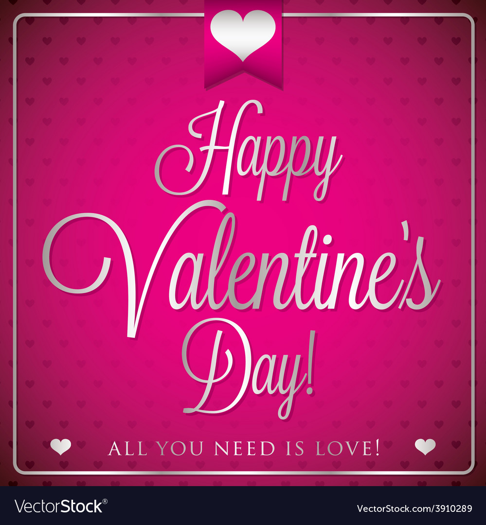 Elegant typographic valentines day card in format vector   Price: 1 Credit (USD $1)