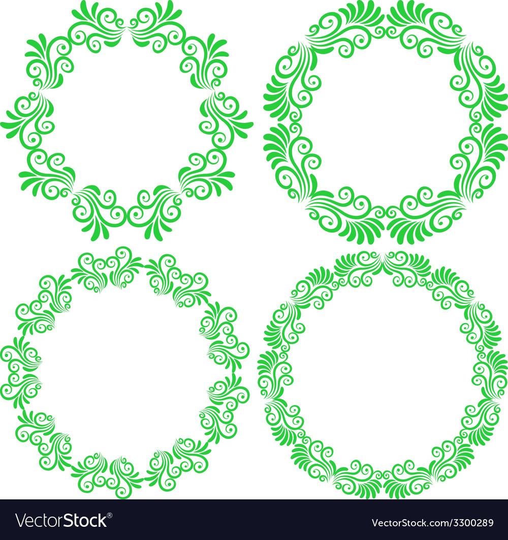 Floral frames vector | Price: 1 Credit (USD $1)
