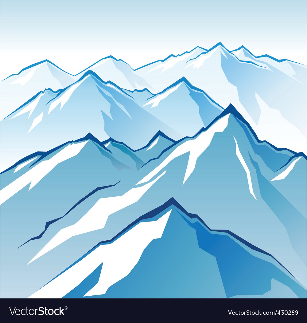 Icy mountains vector | Price: 1 Credit (USD $1)