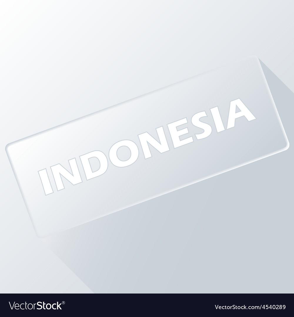 Indonesia unique button vector | Price: 1 Credit (USD $1)