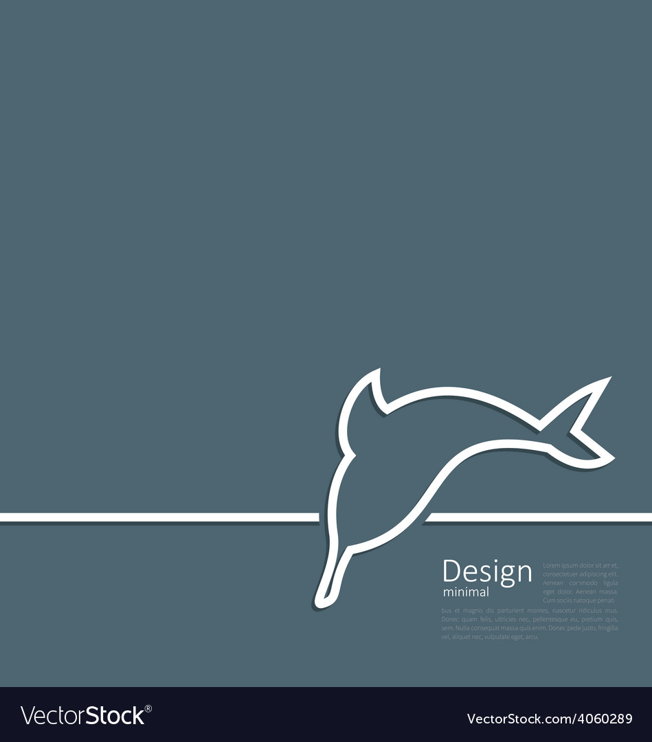 Logo of dolphin in minimal flat style line vector | Price: 1 Credit (USD $1)