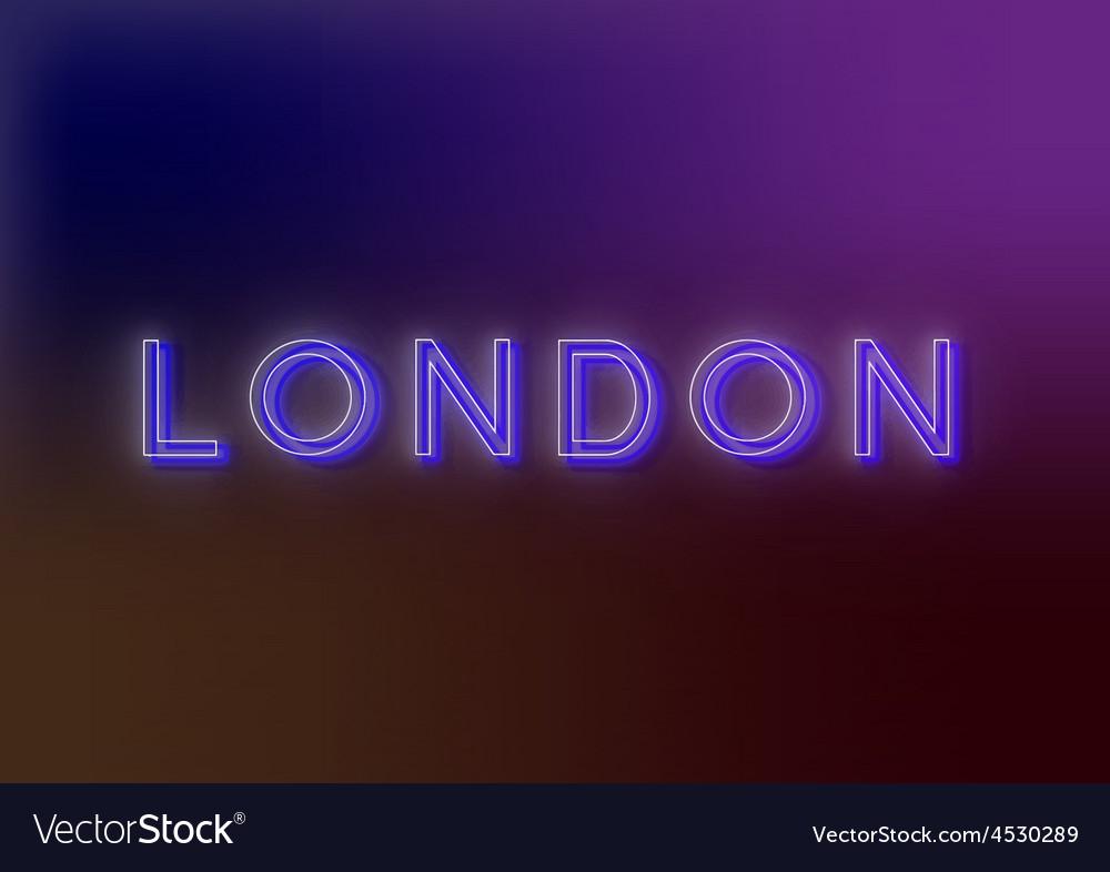 London - neon sign vector | Price: 1 Credit (USD $1)