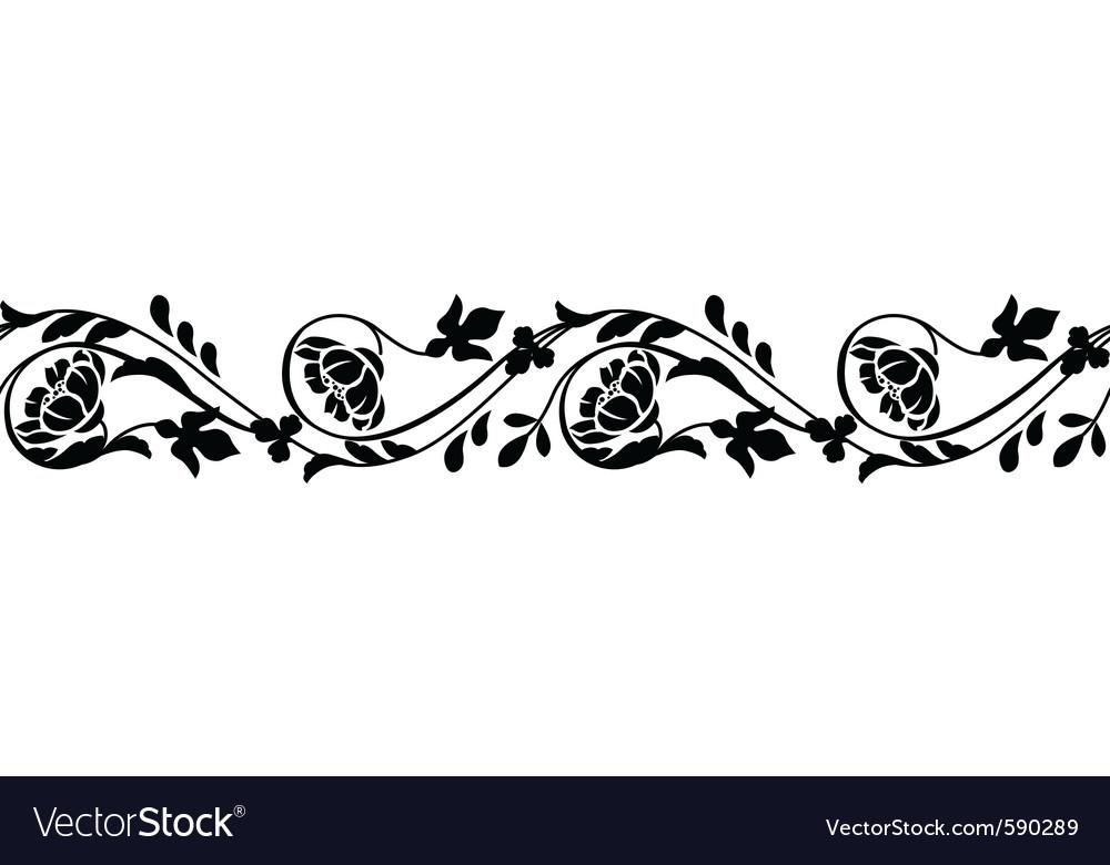 Seamless horizontal border vector | Price: 1 Credit (USD $1)