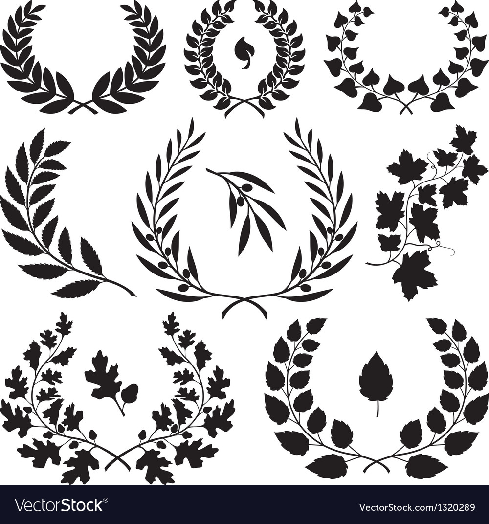 Wreath icons vector | Price: 1 Credit (USD $1)