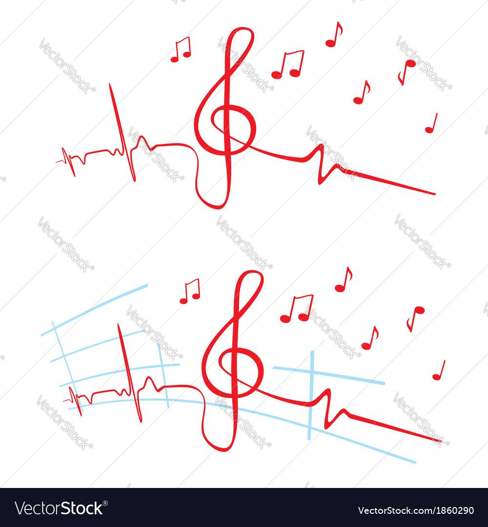 Ekg of music vector   Price: 1 Credit (USD $1)