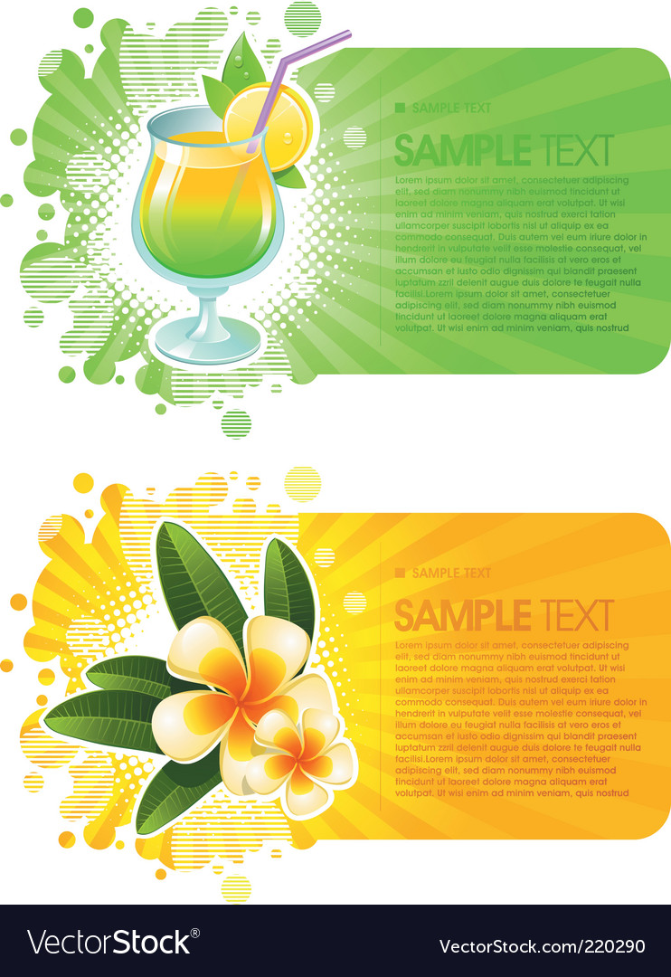 Exotic resorts frames vector | Price: 1 Credit (USD $1)