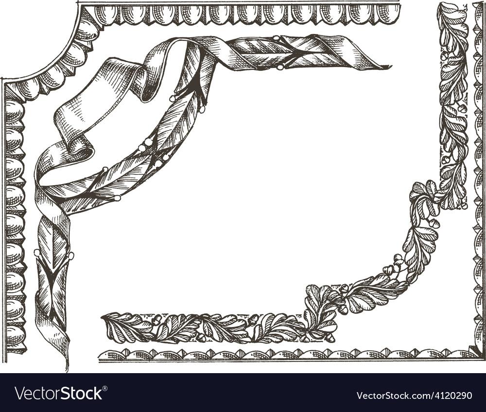 Frame logo design template ornament or vector | Price: 3 Credit (USD $3)