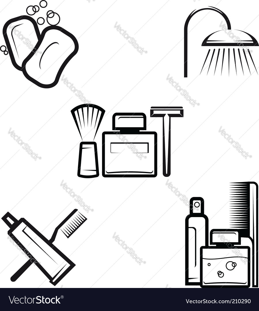 Hygiene objects vector | Price: 1 Credit (USD $1)