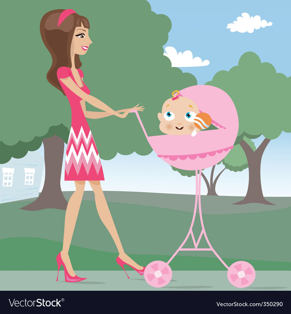 Mother and baby vector | Price: 3 Credit (USD $3)