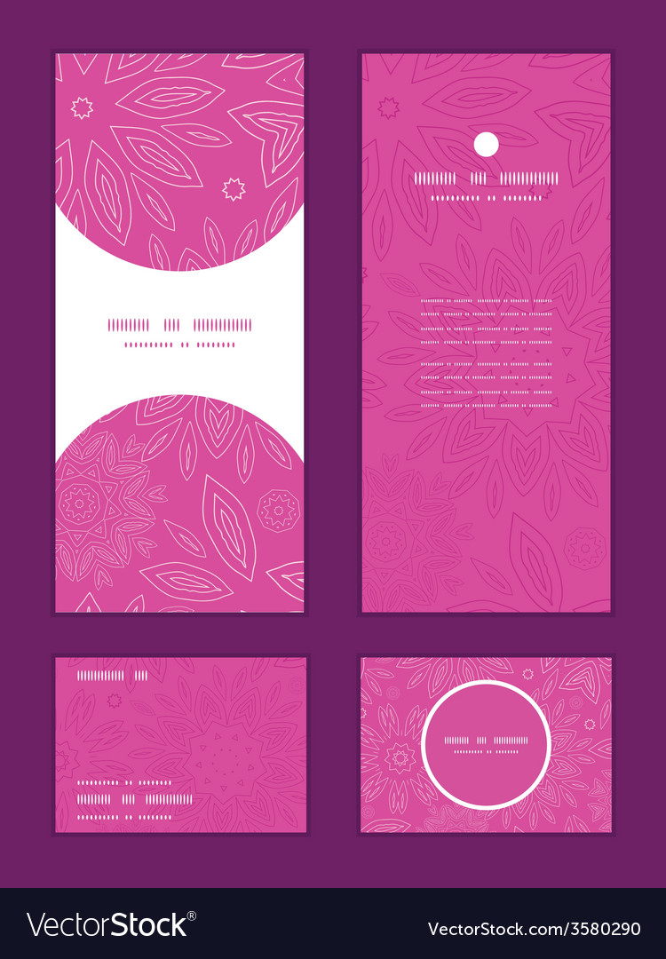 Pink abstract flowers texture vertical frame vector | Price: 1 Credit (USD $1)