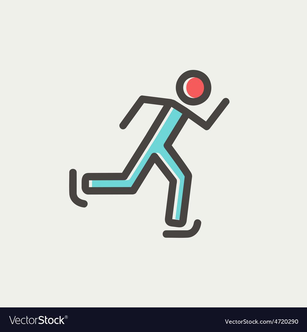 Running man thin line icon vector | Price: 1 Credit (USD $1)