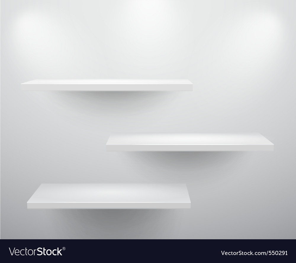 3d shelves vector | Price: 1 Credit (USD $1)
