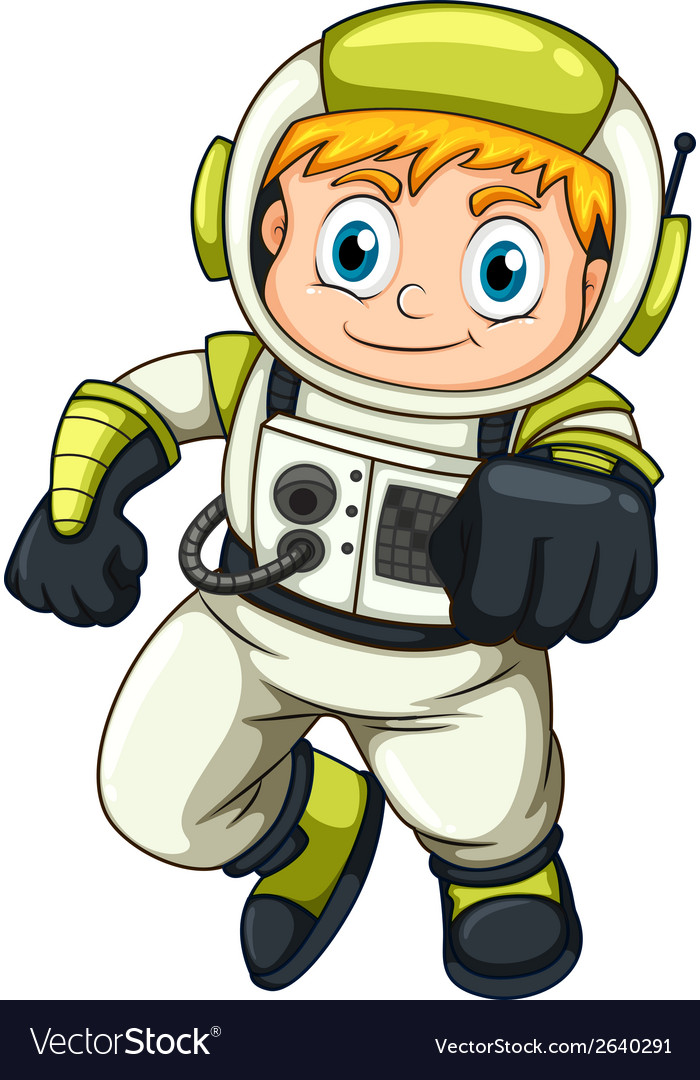 A young astronaut vector | Price: 1 Credit (USD $1)