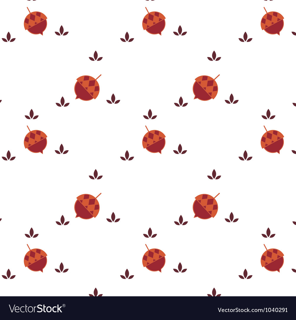 Acorn seamless background vector | Price: 1 Credit (USD $1)