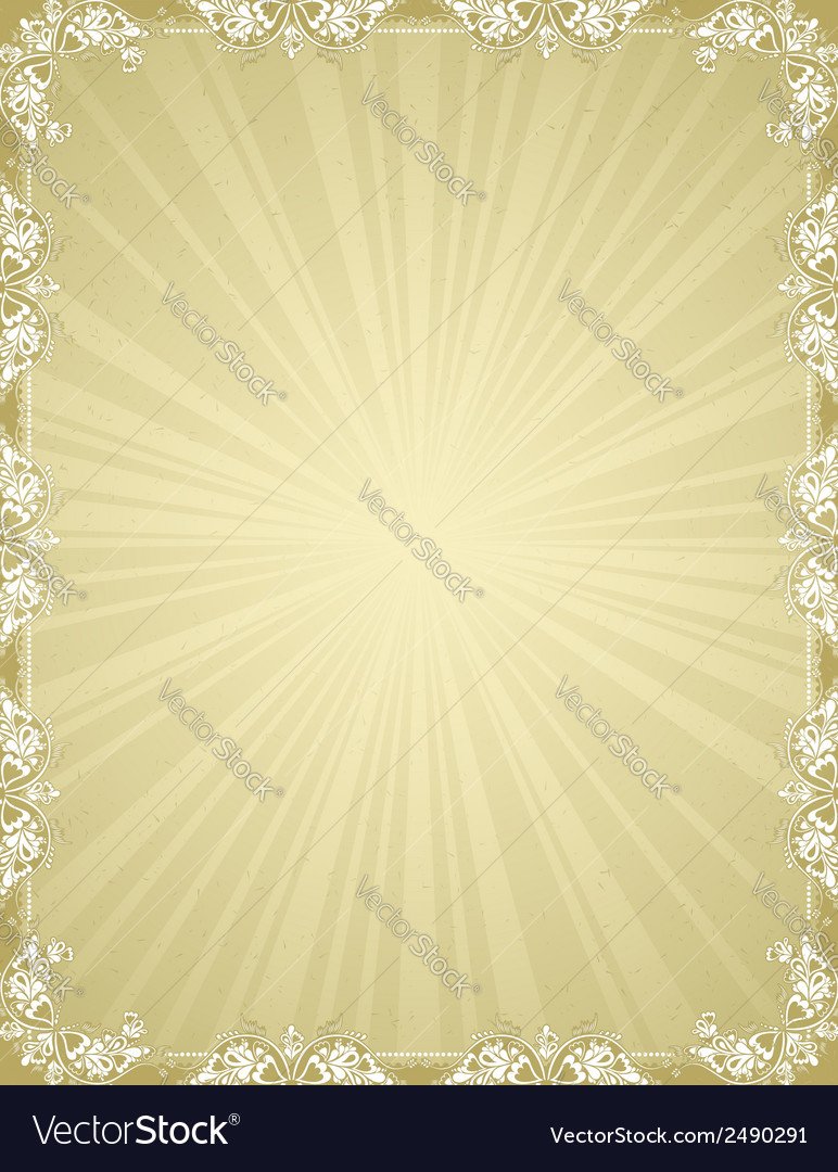 Ancient certificate background vector | Price: 1 Credit (USD $1)