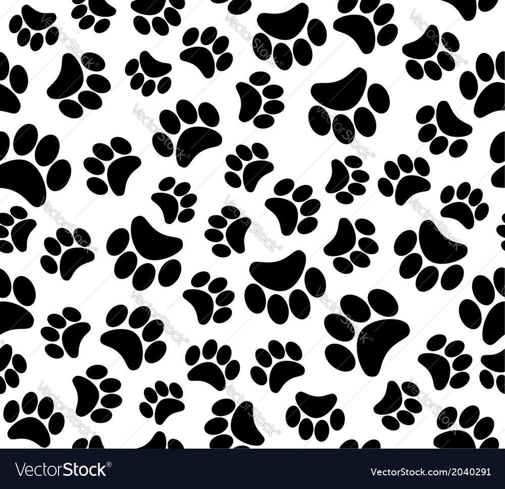 Background animal footprints vector | Price: 1 Credit (USD $1)