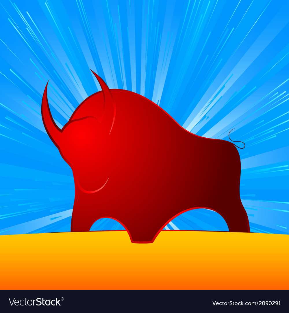 Bull strong finance vector | Price: 1 Credit (USD $1)