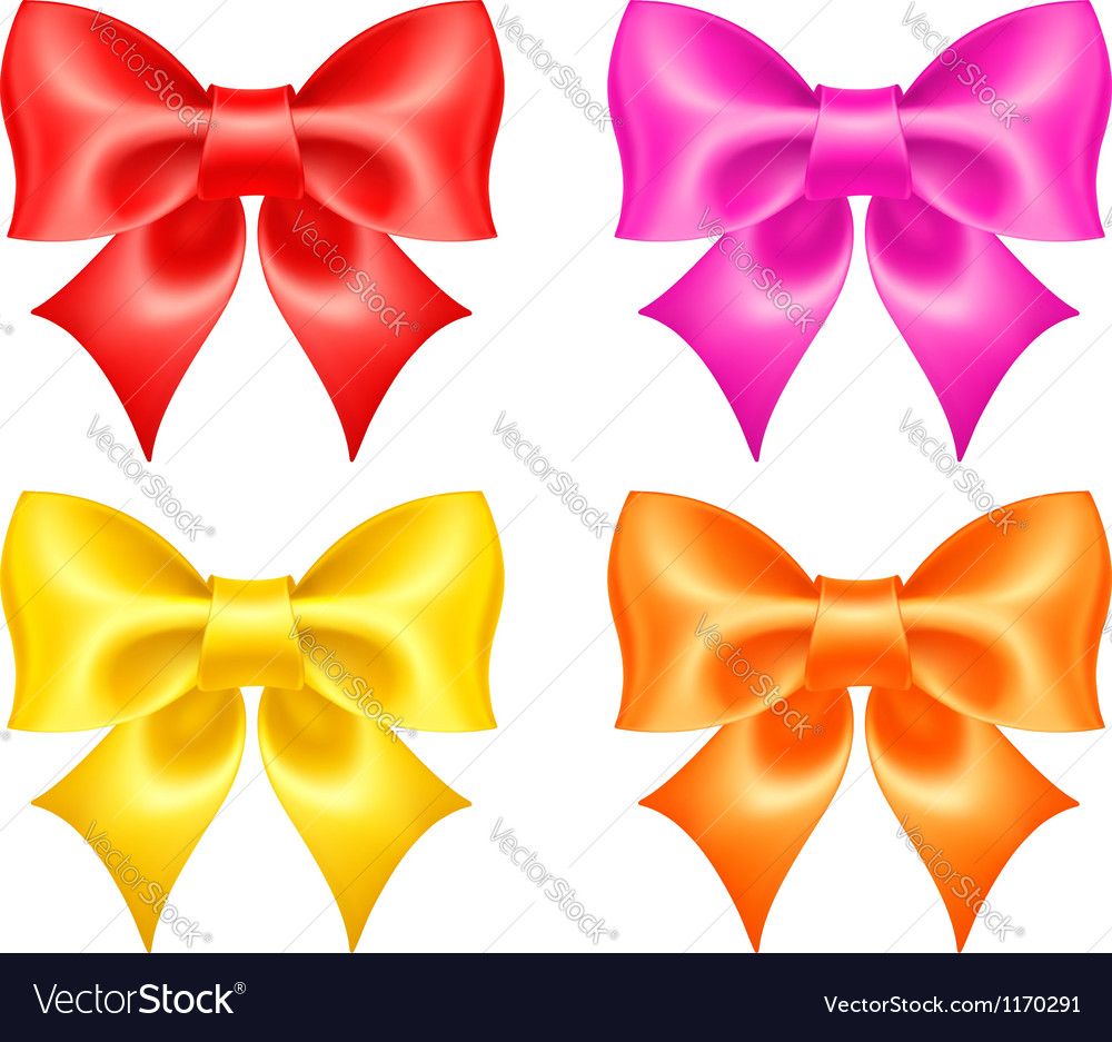 Collection of colored bows vector | Price: 1 Credit (USD $1)