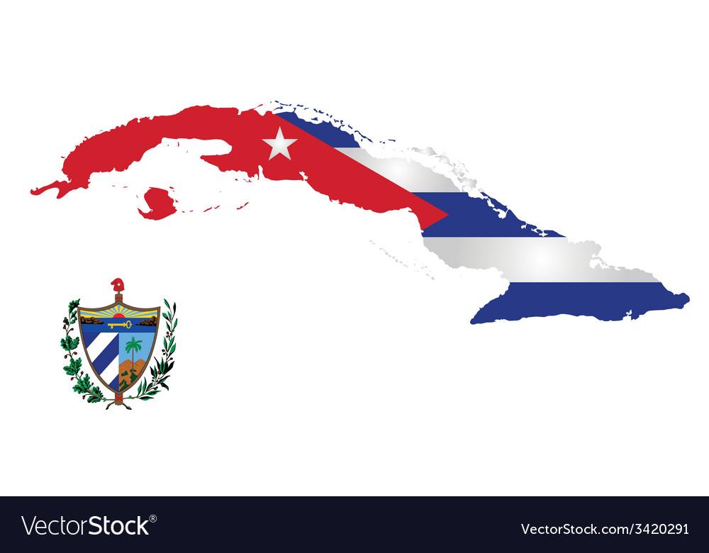 Cuba flag vector   Price: 1 Credit (USD $1)