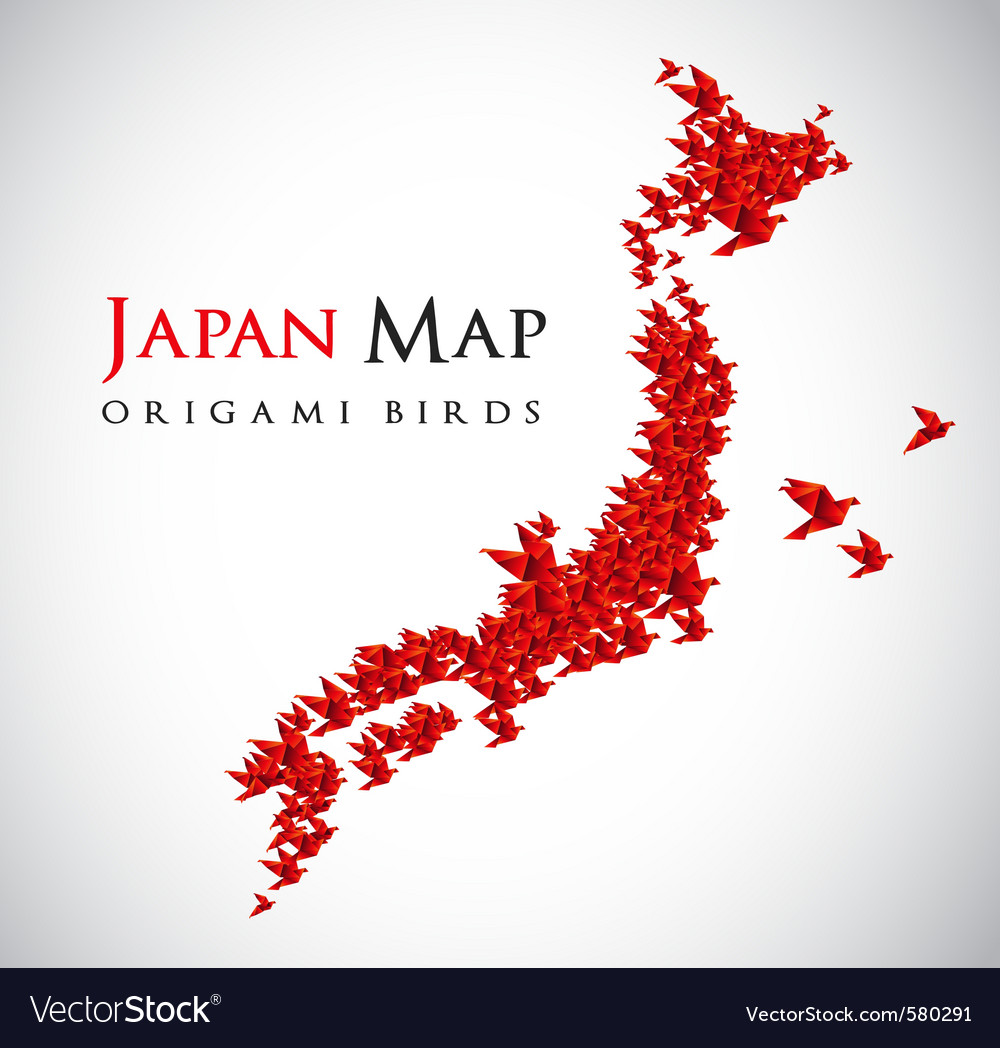 Japan map vector | Price: 1 Credit (USD $1)