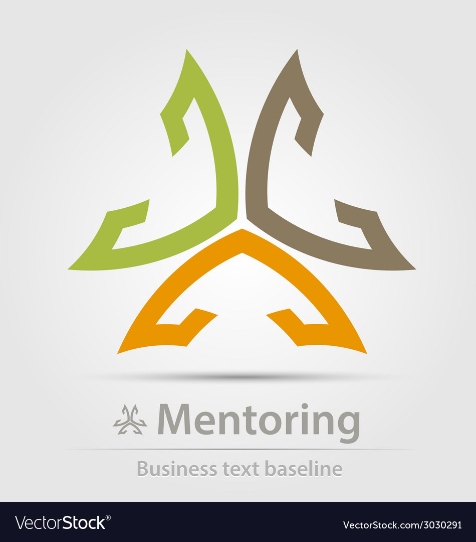 Mentoring business icon vector | Price: 1 Credit (USD $1)