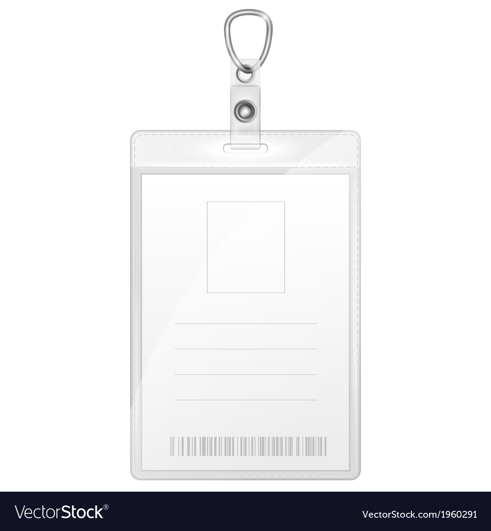 Plastic badge for person identification vector | Price: 1 Credit (USD $1)
