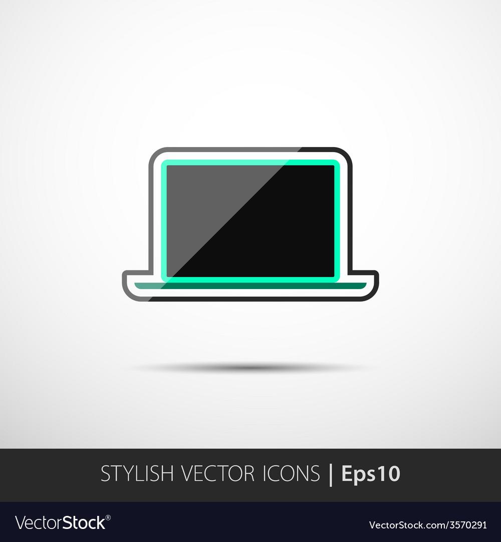 Polygonal laptop vector   Price: 1 Credit (USD $1)