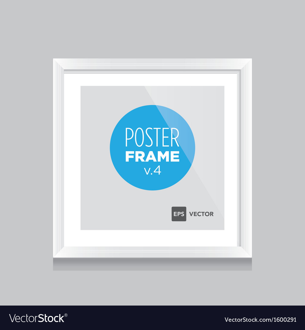Poster frame white square vector | Price: 1 Credit (USD $1)